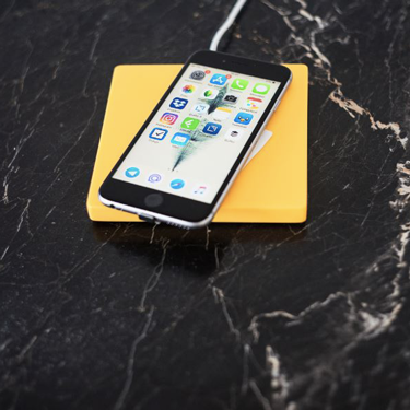 POSO SOLO smart QI charger pad giallo