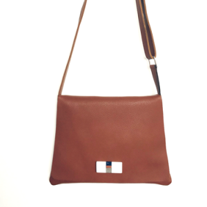 crossbody bag in brown leather