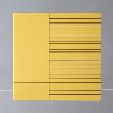 Tzerouno tavolino giallo 60x60x30